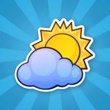 Słońce chmura Obrazy Stock