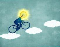 Słońce cyklista Zdjęcia Royalty Free