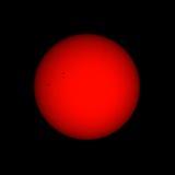Słońce dostrzega zakresu widok Zdjęcia Stock