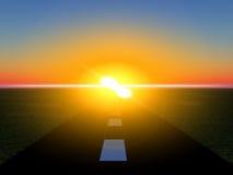 Słońce Droga 17 Obrazy Royalty Free