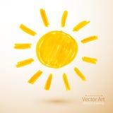 słońce Filc pióra rysunek Obraz Royalty Free