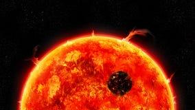 słońce gigantyczny wszechświat zdjęcie royalty free