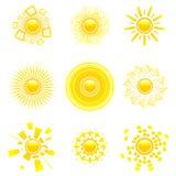 słońce glansowany gromadzenia danych Obrazy Stock