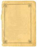 Słońce granica na Starym papierze Obrazy Stock
