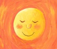 Słońce iść spać royalty ilustracja