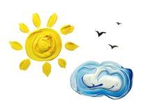 Słońce i chmura royalty ilustracja