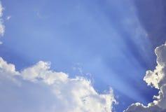 Słońce i chmura jako tło Fotografia Stock