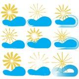 Słońce i chmury (eps10) Zdjęcia Royalty Free