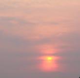 Słońce i dym Zdjęcie Stock
