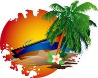 Słońce i morze. Obrazy Stock