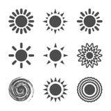 Słońce ikona Zdjęcia Royalty Free