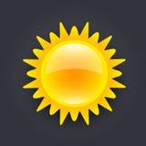 Słońce ikona Fotografia Stock