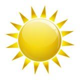 Słońce ikona Fotografia Royalty Free