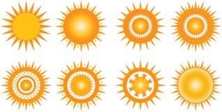 Słońce ikony Zdjęcia Stock