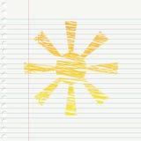Słońce ilustracja Fotografia Stock