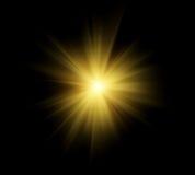 słońce jasno flary Zdjęcia Stock