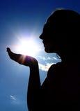 słońce kobieta Zdjęcie Royalty Free