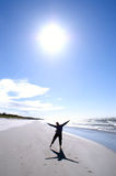słońce kobieta Zdjęcia Royalty Free
