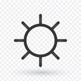 Słońce Kreskowa ikona Kreskowe ikony z płaskimi projektów elementami na białym bac ilustracji