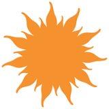 Słońce kształt royalty ilustracja