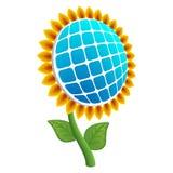 Słońce kwiatu energetyczna ikona, realistyczny styl royalty ilustracja