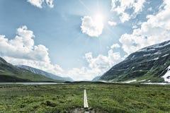 słońce Lapland słońce Obraz Royalty Free