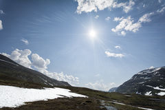 słońce Lapland słońce Obraz Stock