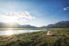 słońce Lapland słońce Obrazy Royalty Free