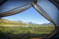 słońce Lapland słońce Zdjęcia Royalty Free