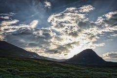 słońce Lapland słońce Zdjęcia Stock