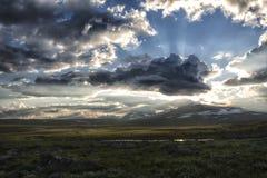 słońce Lapland słońce Obrazy Stock