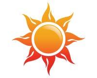 Słońce loga ikony wektor ilustracji