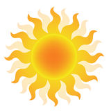 Słońce logo Obrazy Stock