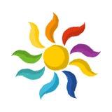 Słońce logo Zdjęcia Stock