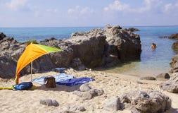 Słońce miłości denna plaża Obrazy Stock