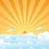 słońce na chmury Obrazy Royalty Free