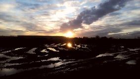 Słońce na ogieniu zdjęcie royalty free