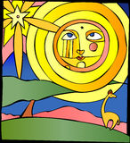 słońce na równiny Obrazy Royalty Free