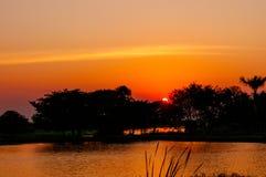 Słońce na rzece Zdjęcia Stock