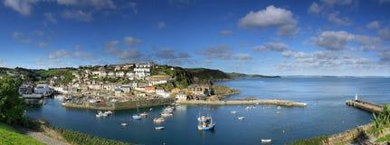 Słońce Nad Mevagissey schronieniem, Cornwall fotografia royalty free