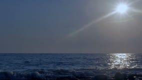 Słońce odbija w wodzie Fala w morzu zbiory