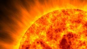 Słońce ogień royalty ilustracja