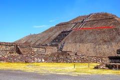 Słońce ostrosłup VIII, teotihuacan Zdjęcia Royalty Free