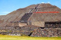 Słońce ostrosłup X, teotihuacan Zdjęcia Stock