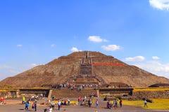 Słońce ostrosłup XII, teotihuacan Obraz Stock