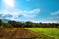 słońce piękna dolina Obraz Royalty Free