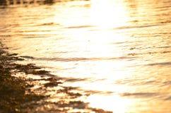 Słońce połysk na zatoce Obraz Royalty Free