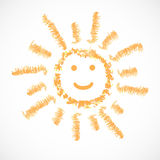 Słońce, pogodowa ikona. Wektorowy illustration/EPS 10 ilustracji