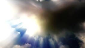 Słońce promieni smuga od kłębić się czasu upływ chmurnieje zbiory