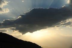Słońce promienie Zdjęcia Stock